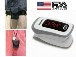 Finger Pulse Oximeter With High Protection Pouch