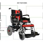 Electric Wheelchair With Lithium Battery