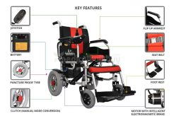 Power Wheelchair With Electromagnetic Brakes G01X
