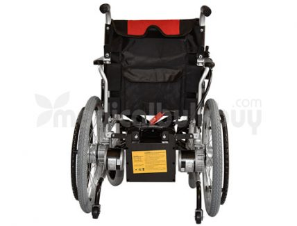 Electrical Wheelchair With Big Wheels G01B Rear View
