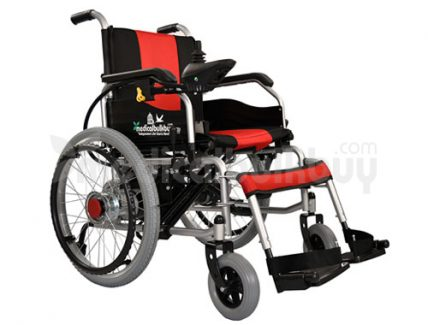 Electrical Wheelchair With Big Wheels G01B Side View