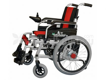 Electrical Wheelchair With Big Wheels G01B Side View(1)