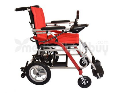 Ultra Lightweight Powered Traveling Wheelchair G11 Left Side View