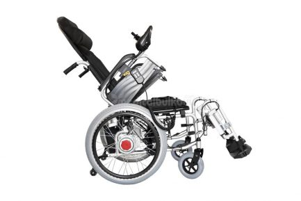Reclining-Electrical-Wheelchair-G04-Flip-up-Arm