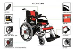 Electrical Wheelchair with Big Wheels